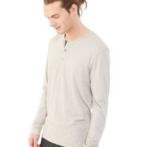 Eco-Mock Twist Long Sleeve Henley Thumbnail