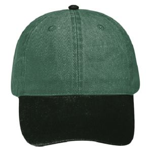 OTTO Garment Washed Pigment Dyed Bull Denim Six Panel Low Profile Dad Hat Thumbnail