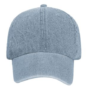 OTTO Garment Washed Pigment Dyed Denim Six Panel Low Profile Dad Hat Thumbnail
