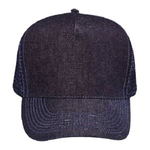 OTTO Denim Five Panel Pro Style Mesh Back Trucker Hat Thumbnail