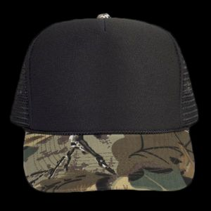 OTTO Camouflage Cotton Twill Visor Polyester Foam Front Five Panel High Crown Mesh Back Trucker Hat Thumbnail