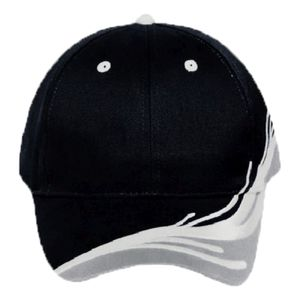 OTTO Ocean Splash Pattern Brushed Cotton Twill Six Panel Low Profile Baseball Cap Thumbnail