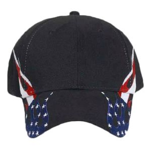 OTTO United States Flag Flame Pattern Brushed Cotton Twill Six Panel Low Profile Baseball Cap Thumbnail