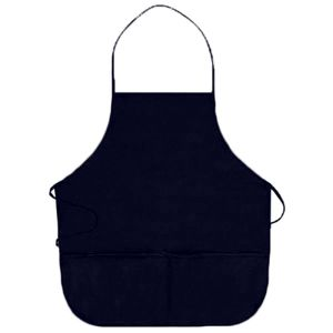 OTTO 7.5 oz. Cotton Blend Twill Two Pocket Medium Bib Apron Thumbnail