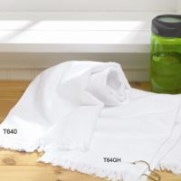 Fringed Hand Towel with Corner Grommet and Hook Thumbnail