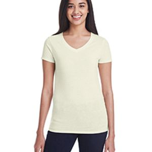 Ladies' Triblend Short-Sleeve V-Neck T-Shirt Thumbnail