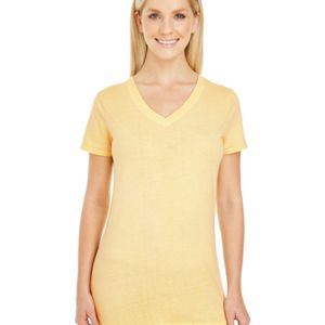 Ladies' Pigment-Dye Short-Sleeve V-Neck T-Shirt Thumbnail