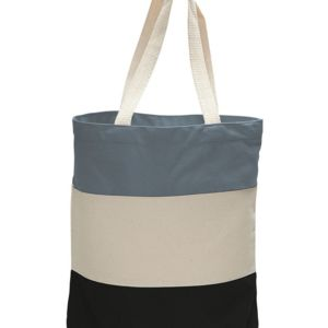 Canvas Tri-Color Tote Bag Thumbnail