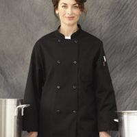 Black Traditional Chef Coat Thumbnail