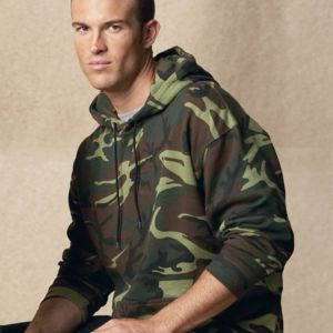 Adult Camo Pullover Fleece Hoodie Thumbnail