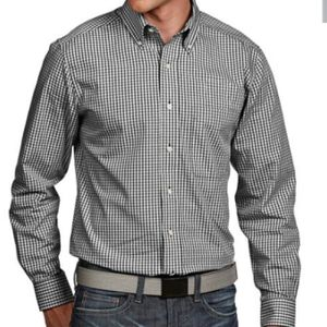 101062 Antigua Associate Mens Long Sleeve Plaid Thumbnail
