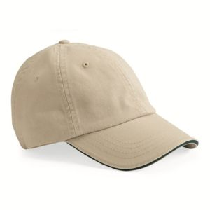 USA-Made Unstructured Twill Cap with Sandwich Visor Thumbnail