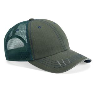 Herringbone Unstructured Trucker Cap Thumbnail
