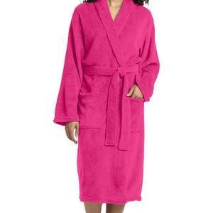 Plush Microfleece Shawl Collar Robe Thumbnail