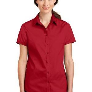 Ladies Short Sleeve SuperPro ™ Twill Shirt Thumbnail