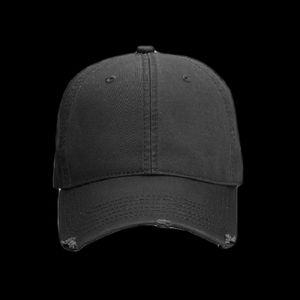 OTTO Garment Washed Superior Cotton Twill Distressed Visor Six Panel Low Profile Dad Hat Thumbnail