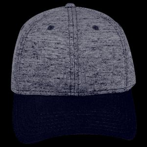 OTTO Rayon Blend Jersey Knit Cotton Twill Six Panel Low Profile Baseball Cap Thumbnail