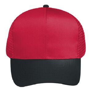 4d527889 OTTO Cap OTTO Cotton Blend Twill Six Panel Pro Style Mesh Back Trucker Hat  30-288