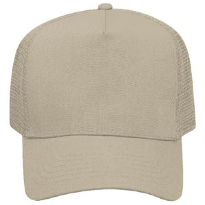 OTTO Promo Cotton Blend Twill Five Panel Pro Style Mesh Back Trucker Hat Thumbnail