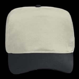 OTTO Brushed Cotton Blend Twill Five Panel High Crown Baseball Cap Thumbnail