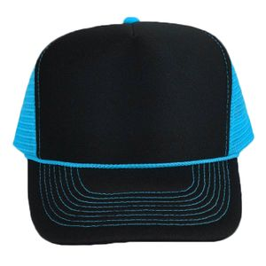 b333ddfe OTTO Cap OTTO Polyester Foam Front Neon Mesh Back Five Panel High Crown Mesh  Back Trucker Hat 55-1118