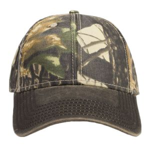 70407a7a OTTO Cap OTTO Camouflage Garment Washed Cotton Blend Twill w/ Heavy Washed  PU Coated Visor Six Panel Low Prof 78-1131
