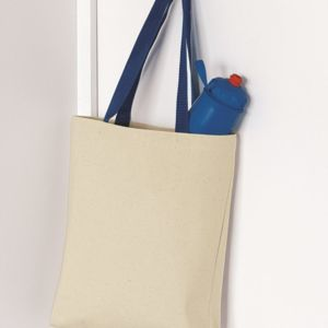 11L Canvas Tote With Color Handles Thumbnail