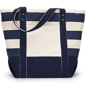 Seaside Zippered Cotton Tote Thumbnail