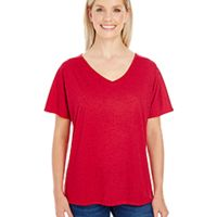Ladies' Triblend Fleck Short-Sleeve V-Neck T-Shirt Thumbnail