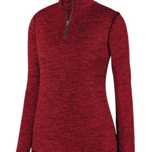 Women's Intensify Black Heather Quarter-Zip Pullover Thumbnail