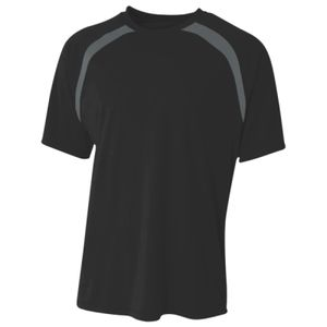 Men's Spartan Short Sleeve Color Block Crew Neck T-Shirt Thumbnail