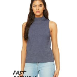 Fast Fashion Women's Mock Neck Tank Thumbnail