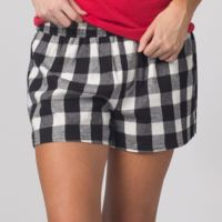 Women's Flannel Shorts Thumbnail