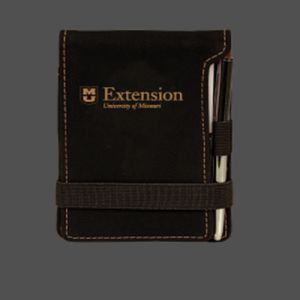 Leatherette Mini Notepad with Pen Thumbnail
